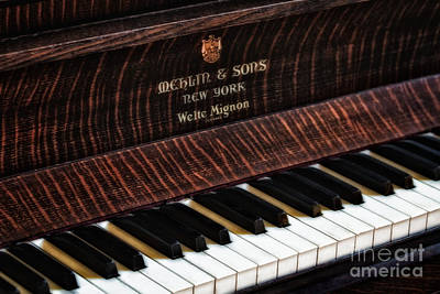 Piano Photograph - Mehlin And Sons Piano by Susan Candelario