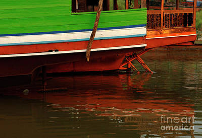 Photograph - Mekong Reflections by Bob Christopher