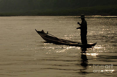 Photograph - Mekong Silouette by Bob Christopher