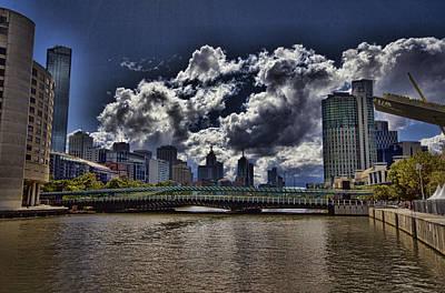 Melbourne Australia City Skyline Art Print by Douglas Barnard