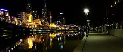 Melbourne Night Art Print by John Monteath