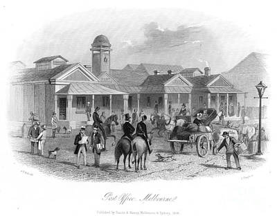 Melbourne Post Office 1856 Art Print