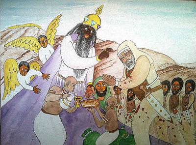 Melchizedek's  Blessing Of Abram Art Print by Derek Perkins