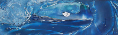 Wyland Painting - Mellow Moon Rise - Maui by Danita Cole