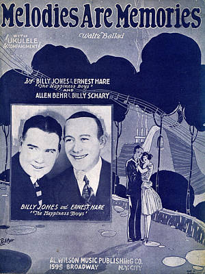 Old Sheet Music Photograph - Melodies Are Memories by Mel Thompson