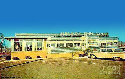 Painting - Melody Diner In Clifton N J In The 1950's by Dwight Goss