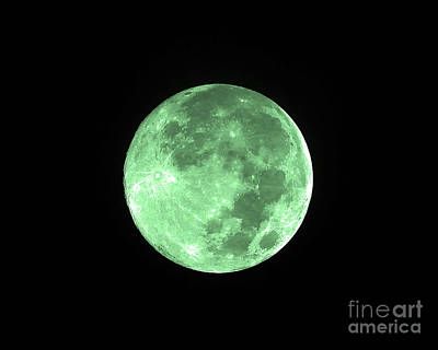 Lunation Photograph - Melon Moon by Al Powell Photography USA