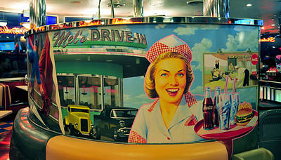 Coca-cola Sign Photograph - Mels Drive In by David Lee Thompson