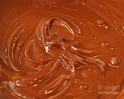 Dessert Photograph - Melted Chocolate by Andee Design