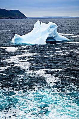 Drifting Snow Photograph - Melting Iceberg by Elena Elisseeva