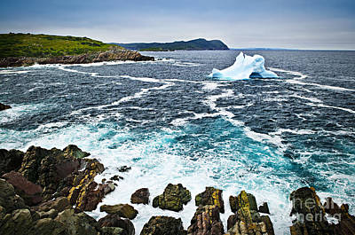 Drifting Snow Photograph - Melting Iceberg In Newfoundland by Elena Elisseeva