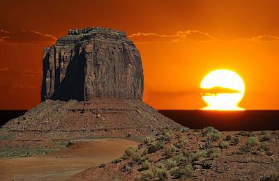 Melting Into The Horizon At Monument Valley National Park Art Print