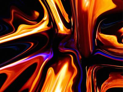 Digital Art - Melting Point Of Gold by Greg Reed Brown