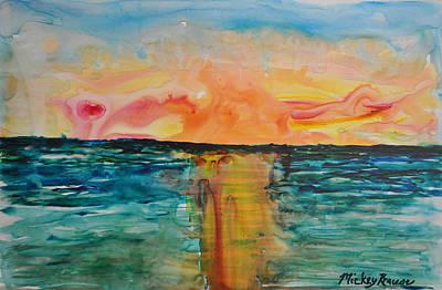Impressionist Landscapes - Melting Sunset 2 by Mickey Krause