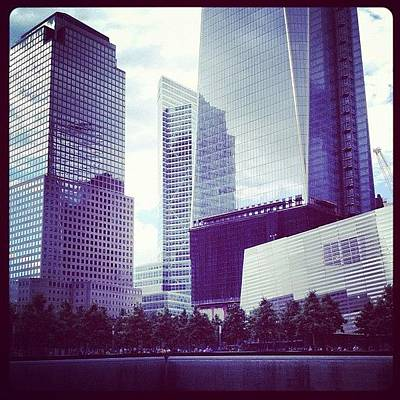 Manhattan Wall Art - Photograph - Memorial And Trade Centers by Randy Lemoine