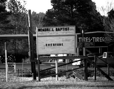 Photograph - Memorial Baptist Tires Everyone by Doug Duffey