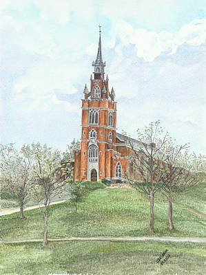 Painting - Memorial Chapel  by Svetlana  Jenkins