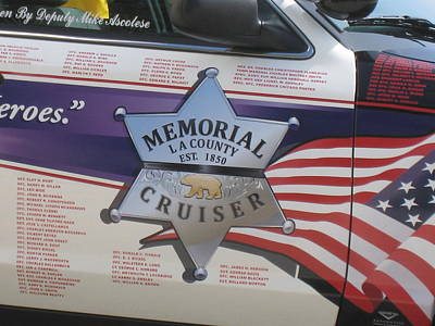 To Serve And Protect Photograph - Memorial Crusier L A by John King