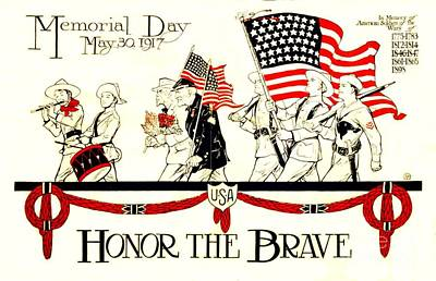 Memorial Day Art Print by Pg Reproductions