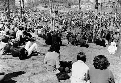 Vietnam War Memorial Photograph - Memorial Services At Kent State by Everett