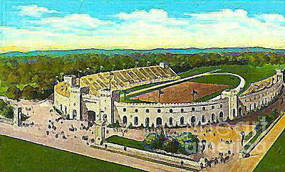 Painting - Memorial Stadium In Manhattan Ks 1940 by Dwight Goss