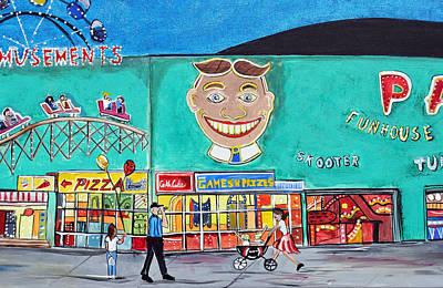 Memories Of Asbury Park  Nj  Art Print