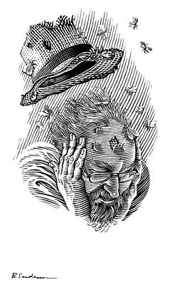 Memory Moths, Conceptual Artwork Art Print by Bill Sanderson