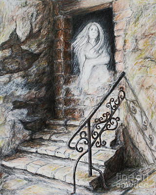 Ghost Towns Drawing - Memory Of Waiting by Danuta Bennett