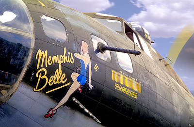 B17 Photograph - Memphis Belle Noce Art B - 17 by Mike McGlothlen