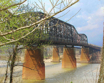 Photograph - Memphis Bridges by Lizi Beard-Ward