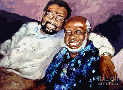 Memphis Soul Music William Bell And Rufus Thomas Art Print by Ginette Callaway