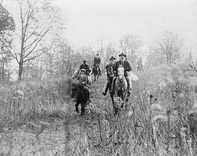 1920s Candid Photograph - Men And Boy On Horses During Hunt by Everett
