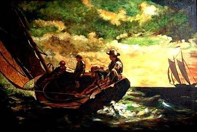 Painting - Men At Sea by Parag Pendharkar