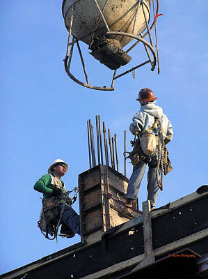 Photograph - Men At Work by Li Newton