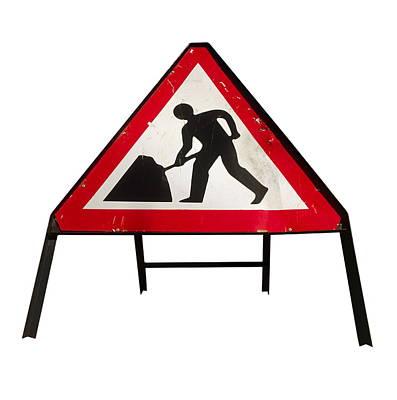 Men At Work Sign Art Print