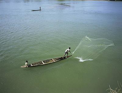 Men Fishing, Laos, Asia Art Print by Bjorn Svensson