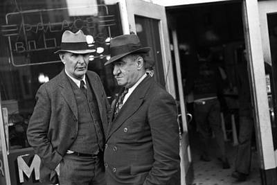 Men In Front Of A Pool Hall, Omaha Art Print
