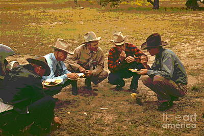 Cowboy Hat Photograph - Men Of Pie Town by Padre Art
