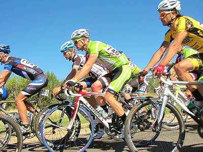 Tour Of The Gila Photograph - Men Start On Day Two by Feva  Fotos
