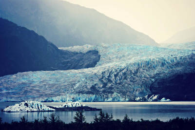 Photograph - Mendenhall Glacier On A Foggy Morning by Marilyn Wilson