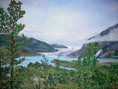 Mendenhall Glacier Painting - Mendenhall Glacier by Teresa Dominici