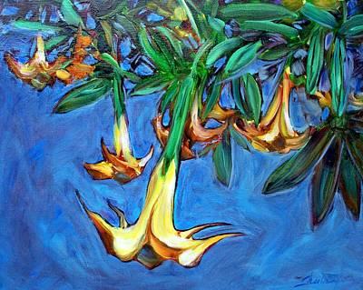 Painting - Mendocino Angel Trumpet by Sheila Tajima