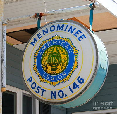 Photograph - Menominee Michigan Post 146 by Pamela Walrath