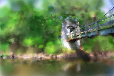 Digital Art - Menomonee River Footbridge  by Geoff Strehlow