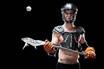 Art Print featuring the photograph Mens Lacrosse  by Jim Boardman