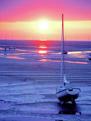 Meols Beach On The Wirral Art Print by Duncan Rowe