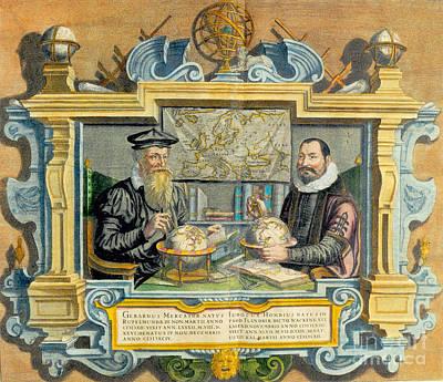 Mercator And Hondius Art Print by Science Source