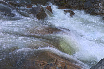 Photograph - Merced River Whitewater by Gregory Scott