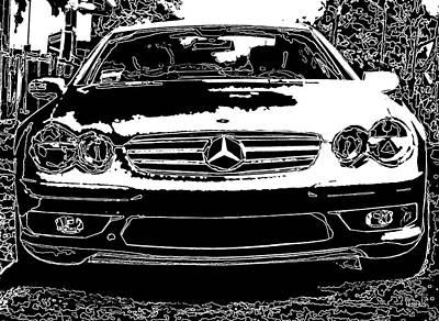 Mercedes Benz Sl 500 Art Print by Samuel Sheats