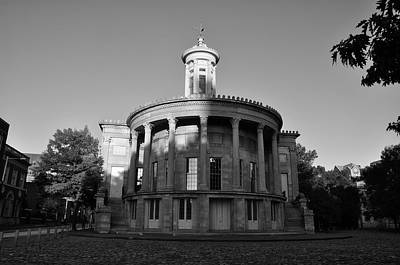 Merchant Exchange Building - Philadelphia In Black And White Art Print by Bill Cannon